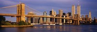 Bridge over a river, Brooklyn Bridge, Manhattan, New York City, New York State, USA Fine-Art Print