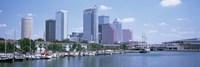 Skyline & Garrison Channel Marina Tampa FL USA Fine-Art Print