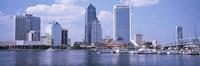 Skyscrapers at the waterfront, Main Street Bridge, St. John's River, Jacksonville, Florida, USA Fine-Art Print