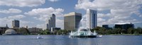 Buildings at the waterfront, Lake Eola, Orlando, Florida, USA Fine-Art Print
