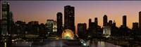 Chicago skyline Lit Up at Night Fine-Art Print