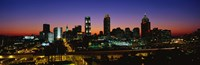 Atlanta skyline at night, GA Fine-Art Print