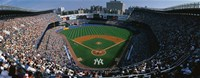High angle view of a baseball stadium, Yankee Stadium, New York City, New York State, USA Fine-Art Print