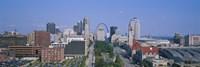 High Angle View Of A City, St Louis, Missouri, USA Fine-Art Print