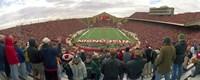 Spectators watching a football match at Camp Randall Stadium, University of Wisconsin, Madison, Dane County, Wisconsin, USA Fine-Art Print