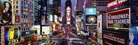 High angle view of traffic on a road, Times Square, Manhattan, New York City, New York State, USA Fine-Art Print