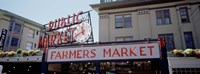 Low angle view of buildings in a market, Pike Place Market, Seattle, Washington State, USA Fine-Art Print