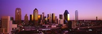 Dallas, Texas Skyline with Purple Sky Fine-Art Print