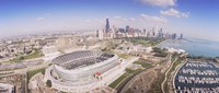 Aerial view of a stadium, Soldier Field, Chicago, Illinois Fine-Art Print