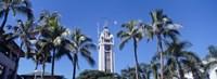 Low angle view of a tower, Aloha Tower, Oahu, Honolulu, Hawaii, USA Fine-Art Print