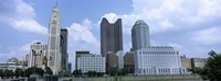 USA, Ohio, Columbus, Clouds over tall building structures Fine-Art Print