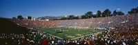 High angle view of spectators watching a football match in a stadium, Rose Bowl Stadium, Pasadena, California Fine-Art Print