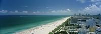City at the beachfront, South Beach, Miami Beach, Florida, USA Fine-Art Print