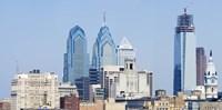 Skyscrapers in a city, Philadelphia, Philadelphia County, Pennsylvania, USA Fine-Art Print