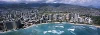 Aerial view of a city, Waikiki Beach, Honolulu, Oahu, Hawaii, USA Fine-Art Print
