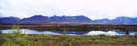 Lake with a mountain range in the background, Mt McKinley, Denali National Park, Anchorage, Alaska, USA Fine-Art Print