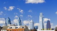 Buildings in a city, Chinatown Area, Comcast Center, Center City, Philadelphia, Philadelphia County, Pennsylvania, USA Fine-Art Print