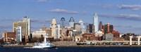 Buildings at the waterfront, Delaware River, Philadelphia, Pennsylvania Fine-Art Print