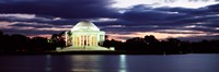 Monument lit up at dusk, Jefferson Memorial, Washington DC, USA Fine-Art Print