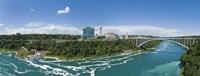 Arch bridge across a river, Rainbow Bridge, Niagara River, Niagara Falls, Ontario, Canada Fine-Art Print
