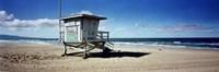 Lifeguard hut on the beach, 8th Street Lifeguard Station, Manhattan Beach, Los Angeles County, California, USA Fine-Art Print