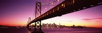 Bay Bridge and city skyline at night, San Francisco, California, USA Fine-Art Print