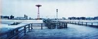 City in winter, Coney Island, Brooklyn, New York City, New York State, USA Fine-Art Print