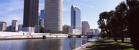 Buildings viewed from the riverside, Hillsborough River, University Of Tampa, Tampa, Hillsborough County, Florida, USA Fine-Art Print
