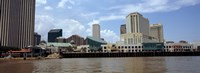 Buildings viewed from the deck of a ferry, New Orleans, Louisiana, USA Fine-Art Print