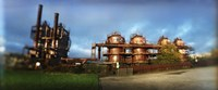 Old oil refinery, Gasworks Park, Seattle, King County, Washington State, USA Fine-Art Print