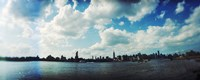 Manhattan skyline viewed from East River Park, East River, Williamsburg, Brooklyn, New York City, New York State, USA Fine-Art Print