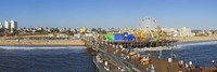 Amusement park, Santa Monica Pier, Santa Monica, Los Angeles County, California, USA Fine-Art Print
