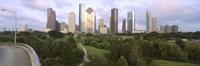 Skyscrapers against cloudy sky, Houston, Texas Fine-Art Print