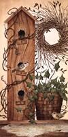 Black Birch Wreath Fine-Art Print