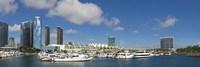 Buildings in a city, San Diego Convention Center, San Diego, Marina District, San Diego County, California, USA Fine-Art Print
