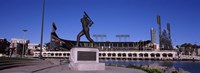 Willie Mays statue in front of a baseball park, AT&T Park, 24 Willie Mays Plaza, San Francisco, California Fine-Art Print