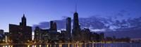 Lit Up Skyline on the Lake Michigan Waterfront, Chicago Fine-Art Print