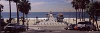 Pier over an ocean, Manhattan Beach Pier, Manhattan Beach, Los Angeles County, California, USA Fine-Art Print