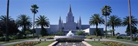 Formal garden in front of a temple, Oakland Temple, Oakland, Alameda County, California Fine-Art Print