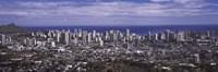 Aerial view of a city, Honolulu, Oahu, Honolulu County, Hawaii, USA 2010 Fine-Art Print