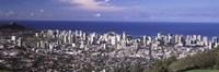Honolulu skyline, Oahu, Honolulu County, Hawaii, USA 2010 Fine-Art Print