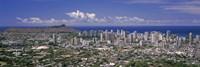 View of a city, Honolulu, Oahu, Honolulu County, Hawaii, USA 2010 Fine-Art Print