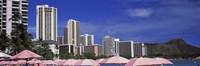 Skyscrapers at the waterfront, Honolulu, Oahu, Hawaii, USA Fine-Art Print