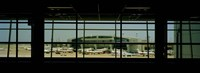 Airport viewed from inside the terminal, Dallas Fort Worth International Airport, Dallas, Texas, USA Fine-Art Print