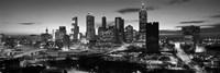 Atlanta skyline in black and white, Georgia, USA Fine-Art Print