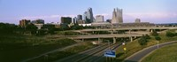 Highway interchange, Kansas City, Missouri, USA Fine-Art Print
