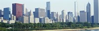 City skyline with Lake Michigan and Lake Shore Drive in foreground, Chicago, Illinois, USA Fine-Art Print