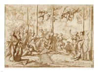 Apollo and the Muses on Mount Parnassus Fine-Art Print