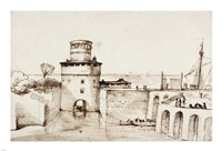 Landscape with a View of a Fortified Port Fine-Art Print
