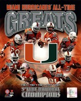University of Miami Hurricanes All Time Greats Composite Fine-Art Print